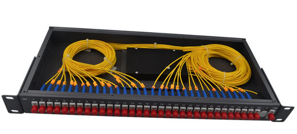 FTTH Rack Mount Fiber Optic PLC Splitter